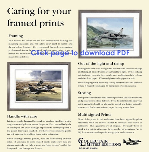 Caring for your framed prints